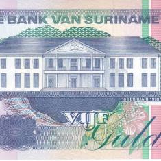 Bancnota Suriname 5 Gulden 1998 - P136b UNC - bancnota america