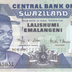 Bancnota Swaziland 10 Emalangeni 2006 - P29c UNC