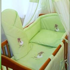 Set Lenjerie de pat pentru copii-Ankras Sweet dreams Bear 5 piese LPAS5-V - Lenjerie pat copii