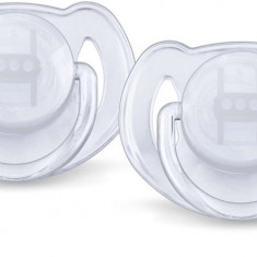Set suzete ortodontice din silicon Philips AVENT Classic 6-18 luni SCF 170/22A, Alb