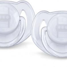 Set suzete ortodontice din silicon Philips AVENT Classic 6-18 luni SCF 170/22Al, Alb - Suzeta