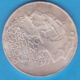 (3) MONEDA DIN ARGINT AUSTRIA - 100 SCHILLING 1977, HOHEN-SALZBURG, Europa, An: 1978