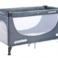 Patut pliabil pentru copii-Caretero SIMPLO PCS2-G, Gri