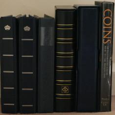 5 clasoare mari pentru monede in cartonase adezive (v descrierea) - album clasor