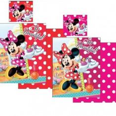 Lenjerie de pat pentru copii Disney Minnie Mouse So Beautiful 2 piese, Rosu - Lenjerie pat copii