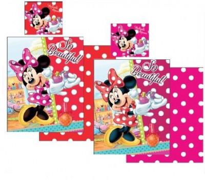 Lenjerie de pat pentru copii Disney Minnie Mouse So Beautiful 2 piese, Rosu foto