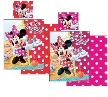 Lenjerie de pat pentru copii Disney Minnie Mouse So Beautiful 2 piese, Rosu