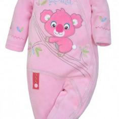 Salopeta cu maneca lunga pentru bebelusi-KOALA Mis Koala 03-850R, Roz