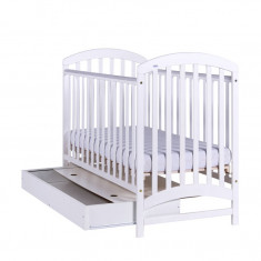 Patut din lemn cu sertar pentru copii-Drewex Adel ADL1A 120 x 60 cm - Patut lemn pentru bebelusi