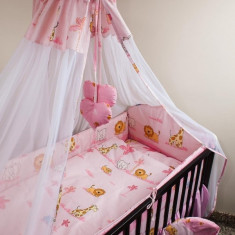 Set Lenjerie de pat pentru copii Ankras Zoo 2 piese LPAZ22-R - Lenjerie pat copii