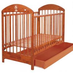 Patut din lemn cu sertar pentru copii Drewex Lion PDL1-C - Patut lemn pentru bebelusi