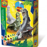 Ses Hobby Baieti - Set Creativ Mulaj 3D Si Pictura - T-Rex
