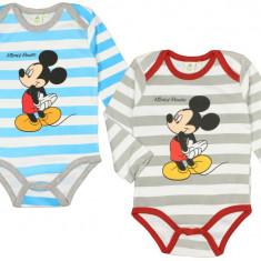 Body cu maneca lunga pentru copii E PLUS M Mickey Mouse DIS BMB 51 01 635, Gri