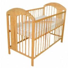 Patut din lemn pentru copii Klups RADEK VII natur PKR-1N, Natur - Patut lemn pentru bebelusi