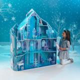 Casuta pentru papusi Disney - Frozen Snowflake Kidkraft, Bleu