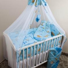 Set Lenjerie de pat pentru copii Ankras Zoo 5 piese LPAZ5-A - Lenjerie pat copii