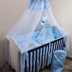 Set Lenjerie de pat pentru copii Ankras Ursuleti in hamac 5 piese LPAUIH5-A - Lenjerie pat copii