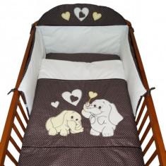 Set Lenjerie de pat pentru copii-Ty i My My Elephant 3 piese LPTME3-MA - Lenjerie pat copii