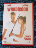 WIMBLEDON (1 DVD ORIGINAL, FILM COMEDIE ROMANTICA cu KIRSTEN DUNST - CA NOU!!!), Engleza