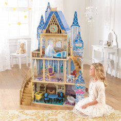 Casuta pentru papusi Cinderella Royal Dream - KidKraft, Multicolor