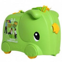 Valiza Ride-on Elephant 3 in 1 Verde Molto - Vehicul