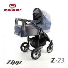 Carucior 2 in 1 Zipp Z-23 Cadru Negru Adbor - Carucior copii 2 in 1