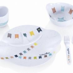 Set complet pentru hranire Party Lunch Albastru Babymoov