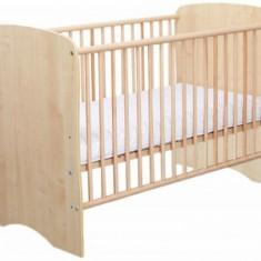 Patut Copii Lemn Fara Sertar Serena 3615 MyKids - Patut lemn pentru bebelusi MyKids, 120x60cm, Maro