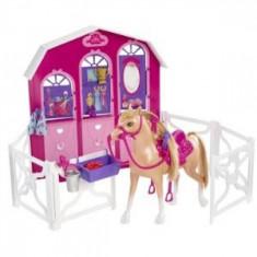 Papusa Barbie si surorile ei - Calut si grajd Mattel, 2-4 ani, Plastic