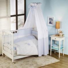 Set lenjerie de pat 5 piese Elefante Blue Nino - Lenjerie pat copii Nino, Roz