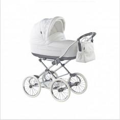 Carucior copii 2 in 1 Marita Prestige Deluxe S160 (Alb) Roan, Roz