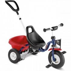 Tricicleta cu maner 76 x 48 cm CAT 1L Rosu Puky - Tricicleta copii