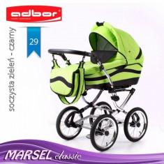Carucior 3 in 1 Marsel Classic 29 (Verde) Adbor - Carucior copii 3 in 1