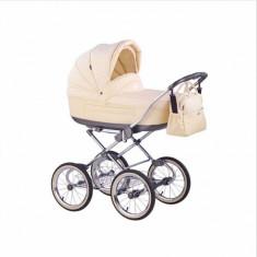 Carucior copii 2 in 1 Marita Prestige S56 (Crem) Roan, Alb