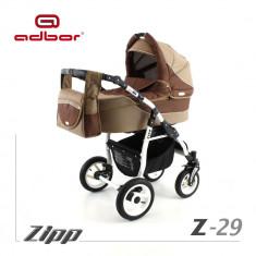 Carucior 2 in 1 Zipp Z-29 Cadru Alb Adbor - Carucior copii 2 in 1