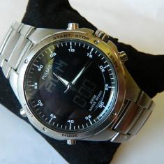 Ceas barbatesc deosebit PULSAR (by seiko ) World Timer, Sport, Quartz, Inox, Cronograf