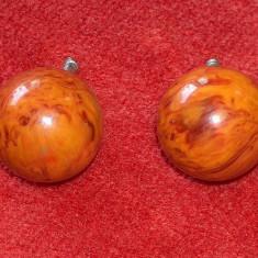 2 mânere chihlimbar pentru mobilă vintage