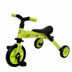 Tricicleta copii 2 in 1 B-Trike Verde DHS