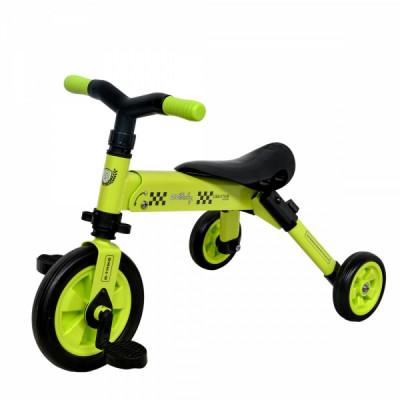 Tricicleta copii 2 in 1 B-Trike Verde DHS foto