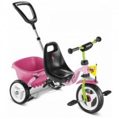 Tricicleta cu maner 75 x 48 cm CAT 1S Roz Puky - Tricicleta copii