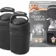 Set 2 huse biberon termoizolante Closer to Nature Tommee Tippee