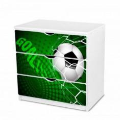 Comoda cu 3 sertare si polita birou 30 (Goal Green) Nobiko - Dulap copii