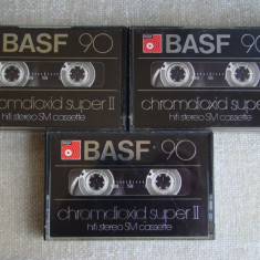 Alt Lot 3 Casete Audio BASF Chromedioxid Super II - 90 min