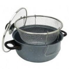 Cratita non-stick+sita+capac sticla de prajit cartofi - oala, cratita
