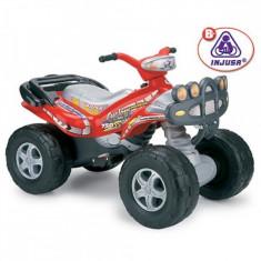ATV 2 locuri Mega Cyclops 12V Injusa - Masinuta electrica copii Injusa, Rosu