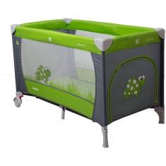 Patut pliabil Samba gri/verde Coto Baby - Patut pliant bebelusi