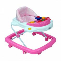 Premergator cu jucarie muzicala M138 Easy Pink DHS, 0-6 luni, Roz