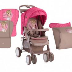 Carucior 2 in 1 Foxy cu husa de picioruse Beige & Rose Princess Lorelli - Carucior copii 2 in 1