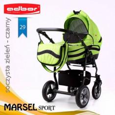 Carucior 3 in 1 Marsel Sport 29 (Verde) Adbor - Carucior copii 3 in 1