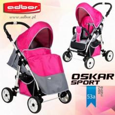 Carucior sport Oskar Sport 53a (Gri cu Fucsia) Adbor - Carucior copii Sport